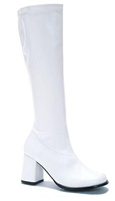 White Knee High Women's Go Go Boots