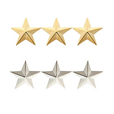 Three Star General Insignia Pin