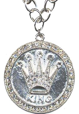 King Crown Medallion Necklace