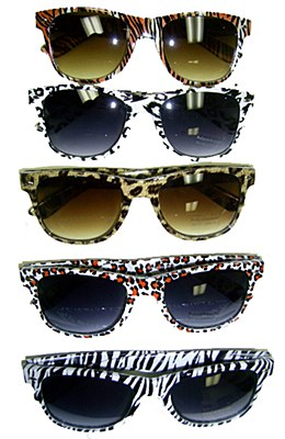 80's Animal Print Blues Brother Sunglasses
