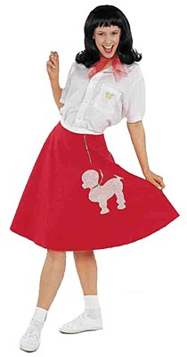 50's Women's Red Poodle Skirt