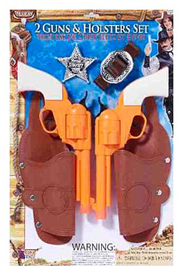 Western Pistol Double Gun And Holster Set
