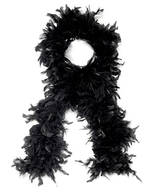 "72"" Black Feather Boa"