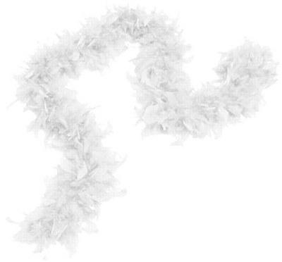 """72"""" White Feather Boa"""