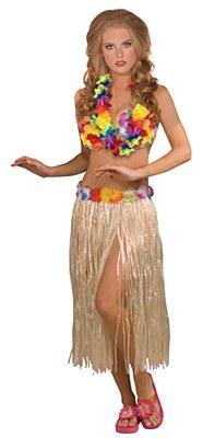 Hula Girl Adult Costume Set