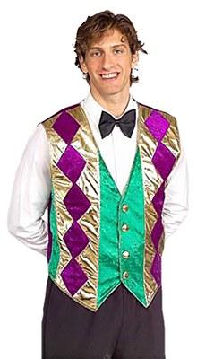 Mardi Gras Diamond Patten Vest