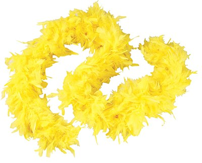 "72"" Yellow Feather Boa"
