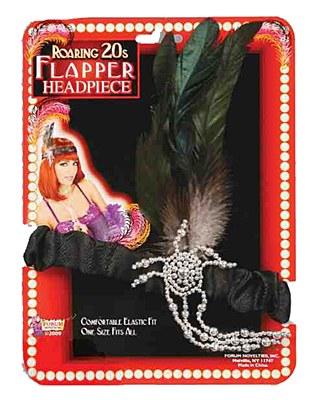 20's Flapper Black Headband