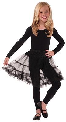 Layered Child Petticoat - Black
