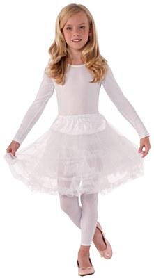 Layered Child Petticoat - White
