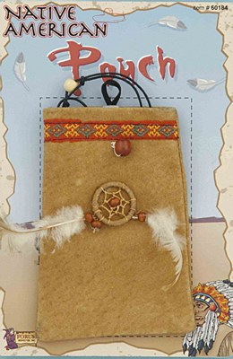 Indian Suede Dreamcatcher Pouch