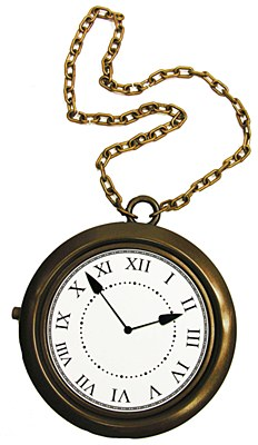 Clock Medallion Necklace