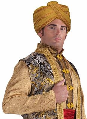 Turban Maharaji Wrapped Headpiece