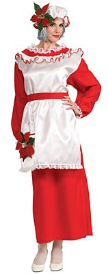 Mrs. Santa Claus Long Dress Adult Costume
