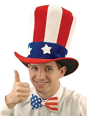Uncle Sam Velvet Top Hat