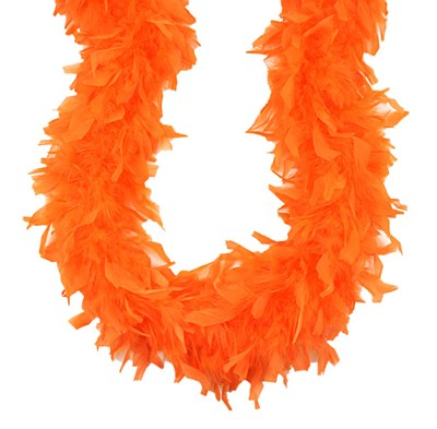 """72"""" Orange Feather Boa"""