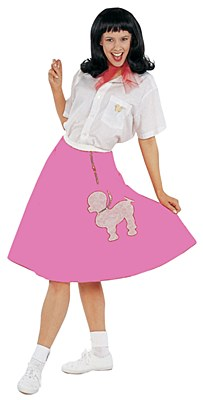 50's Women's Pink Poodle Skirt