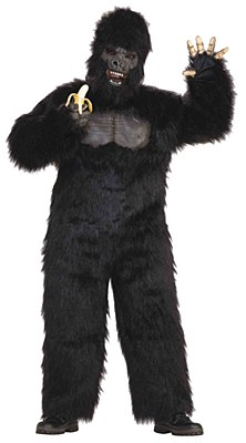 Gorilla Deluxe Movable Jaw Mascot Adult Costume