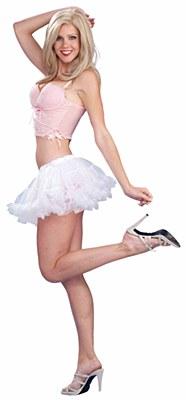 Mini Puffy Chiffon White Petticoat