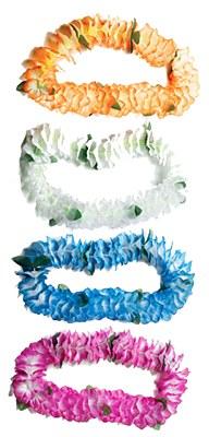 White Crinkle Flower Lei