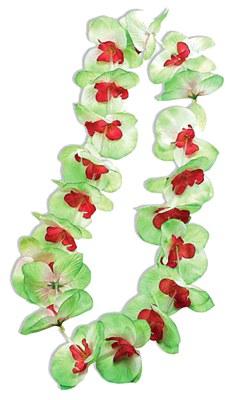 Orchid Flower Petal Lei - Green