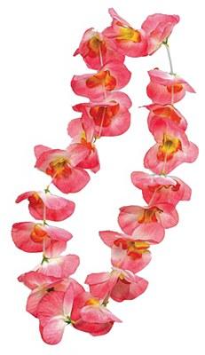 Orchid Flower Petal Lei - Pink