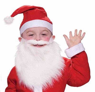 Santa Child Wig And Beard Set