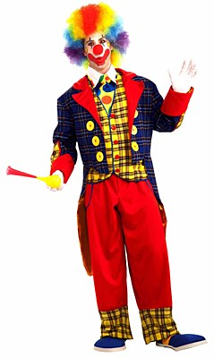 Checkers The Clown Adult Costume