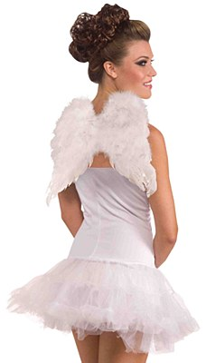 "Mini 12"" Feather Angel Wings"