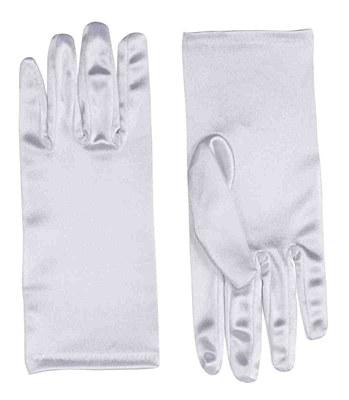 """9"""" Adult White Satin Gloves"""