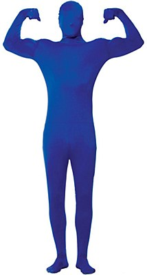 2nd Skin Blue Morphsuit Adult Costume