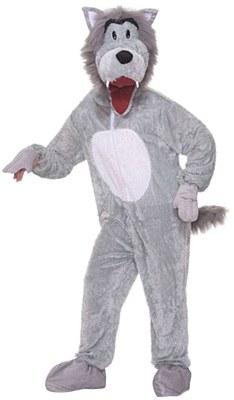 Storybook Wolf Plush Mascot Adult Costume