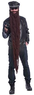 "Extra Long 48"" Deluxe Brown Beard"