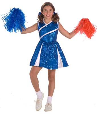 Sassy Sequin Cheerleader Child Costume