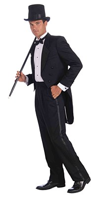 Tuxedo Tail Coat Adult Costume