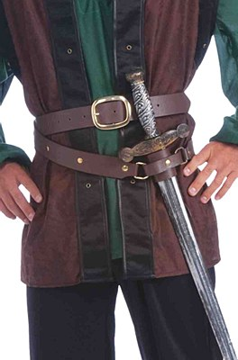Medieval Double Wrapped Belt Sword