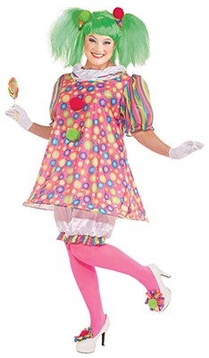 Tickle The Clown Adult Plus Costume