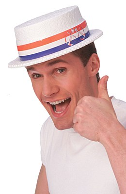 Boater Styrofoam Skimmer Hat