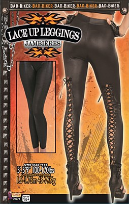 Lace Up Back Biker Leggings