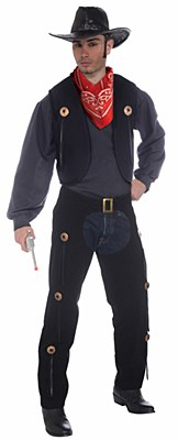 Chaps And Vest Adult Costume