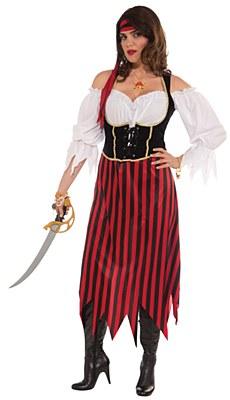 Pirate Maiden Adult Plus Costume