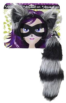 Raccoon Ears And Tail Set