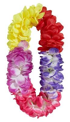 Color Block Flower Petal Lei
