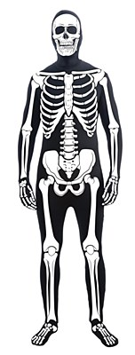 2nd Skin Skeleton Morphsuit Teen Costume