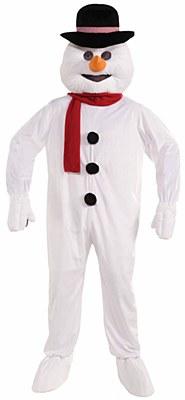 Snowman Plush Mascot Adult Costume
