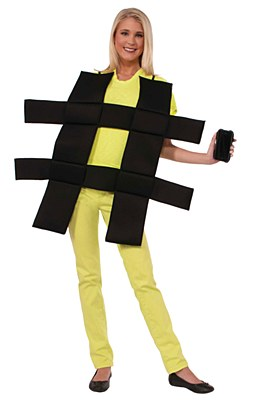 Hashtag Adult Costume
