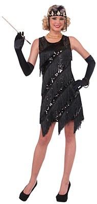 Midnight Dazzle Flapper Adult Costume