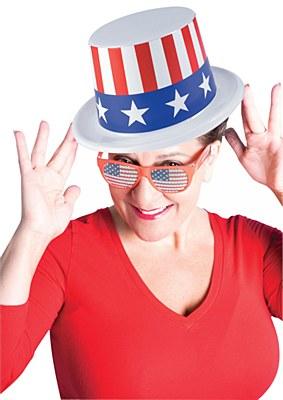 Patriotic Plastic Top Hat