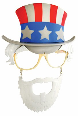 Liberty Uncle Sam Sun-Staches Glasses