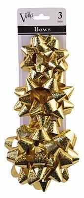Metallic Star 3 Gift Bow Set - Gold